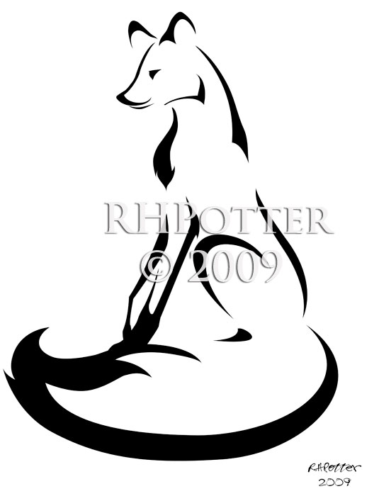 Seated Fox by RHPotter