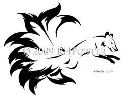 Fierce Kitsune by RHPotter