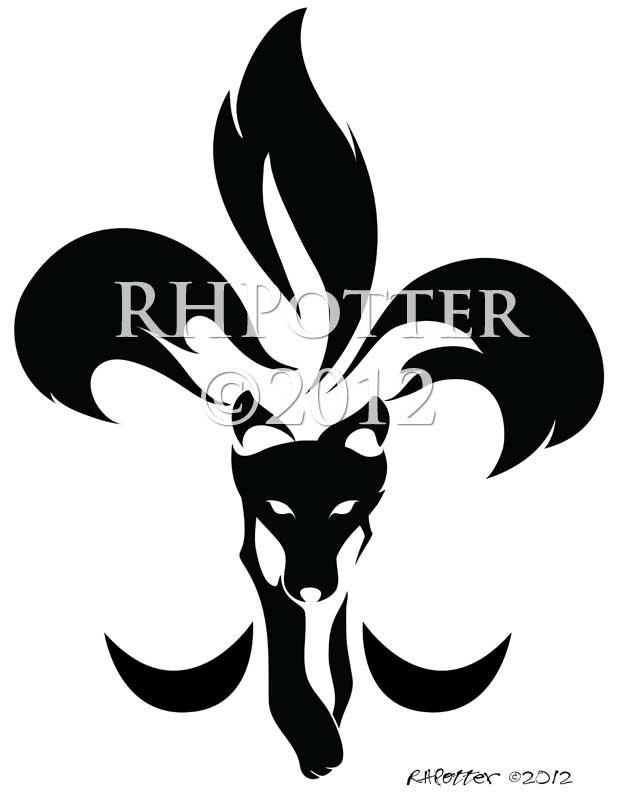 fleur de lis kitsune by rhpotter on deviantart. Black Bedroom Furniture Sets. Home Design Ideas