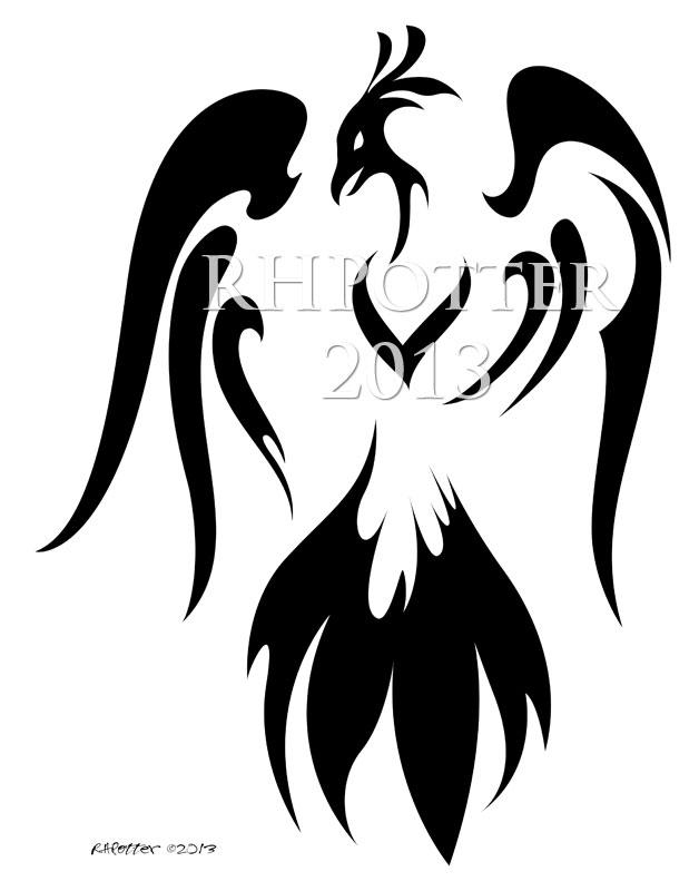 Heraldic Phoenix by RHPotter