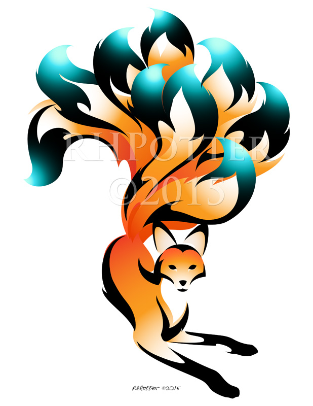 Foxfire Kyuubi by RHPotter