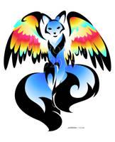 Phoenix Kitsune by RHPotter