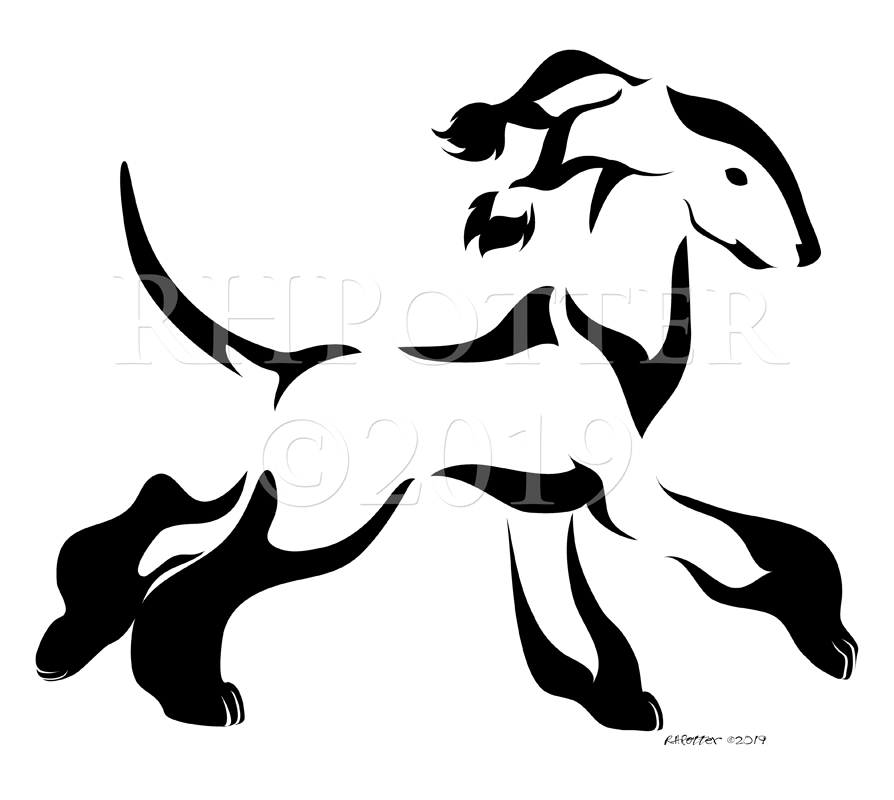 Bedlington Terrier by RHPotter