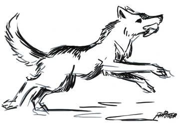 Inktober2019, Day 6: Husky