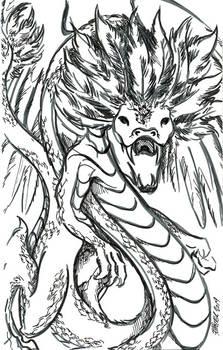 Inktober, Day 12: Dragon