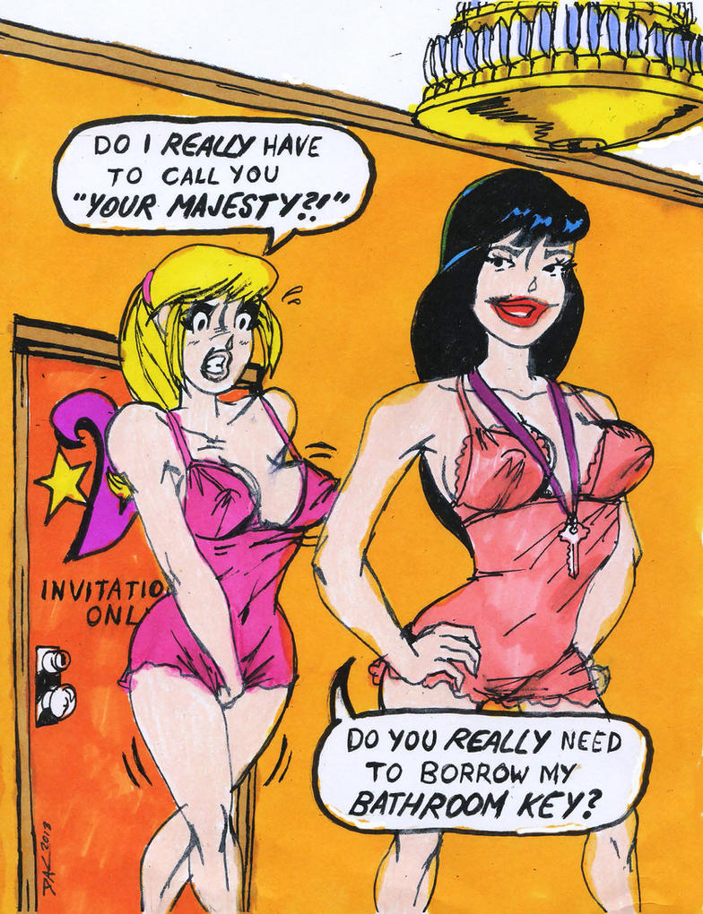 Betty LOVES Veronica: The Throne Room by Admiral5