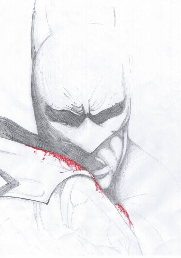 Unfinished Batman Sketch 2 by MangaQueen3800