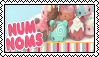 Num Noms Stamp by sararadisavljevic