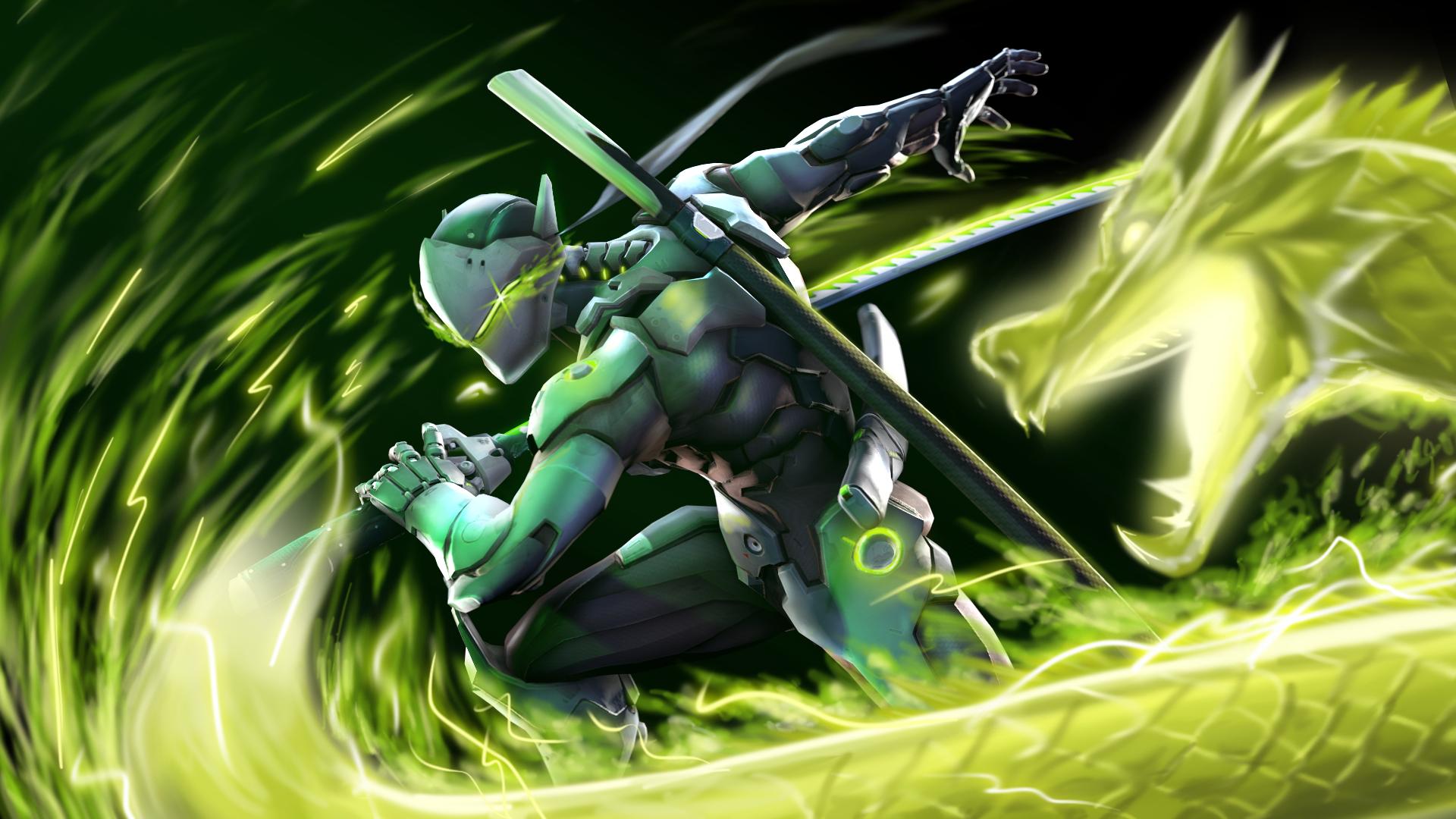 Genji - Overwatch by Chaepae