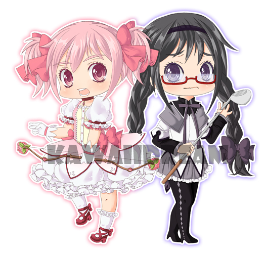 MadoHomu chibis by Kawaii-Dream