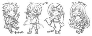 Noragami Chibi Sketches