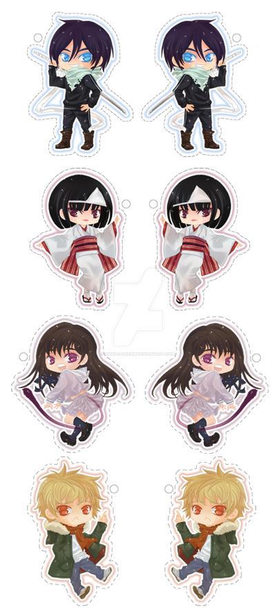Noragami Keychans/Straps by Kawaii-Dream