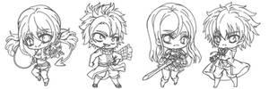 Fairy Tail Chibi Sketches