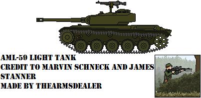 AML-59 Light Tank by TheArmsDealer