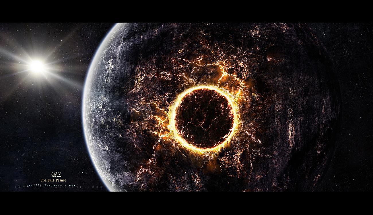 The Evil Planet by QAuZ
