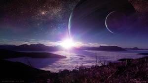 Purple And Dreamy Sunrise by QAuZ