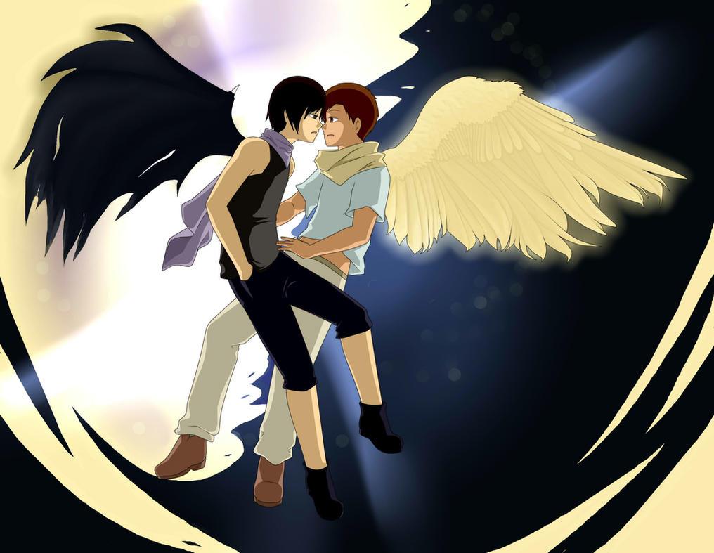 Angel y Demonio - APHL evento by apairofiris on DeviantArt