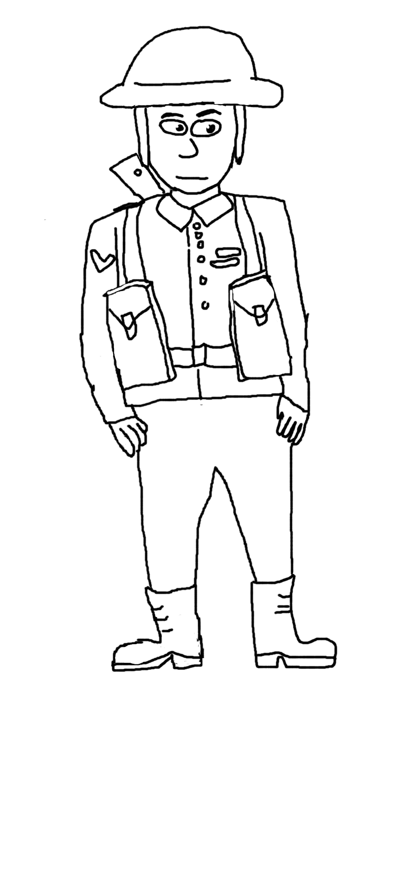 Soldier Outline Drawing