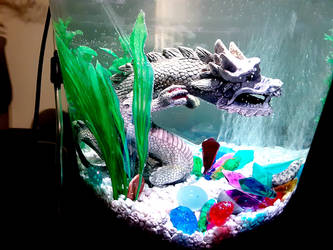 Dragon and crystals