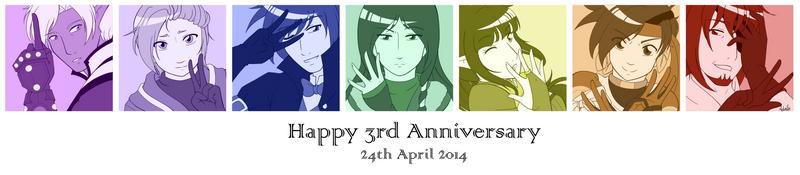 TON: Happy 3rd Anniversary by midorishina