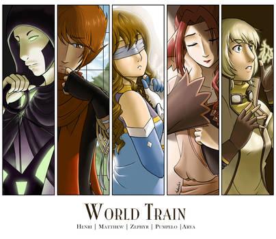 World Train: Group of 5 by midorishina