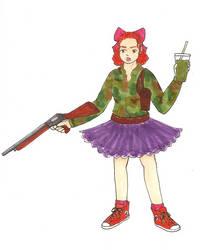Zombie Hunter Kitty by KayQy