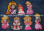 Perler Bead Princess Peach-es