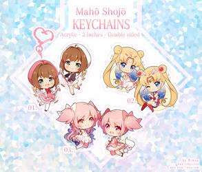 Maho Shojo Keychains by rimuu