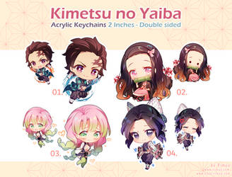 Kimetsu no Yaiba Keychains by rimuu