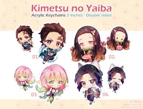 Kimetsu no Yaiba Keychains