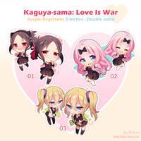 PRE-ORDER: Kaguya-sama Acrylic Keychains