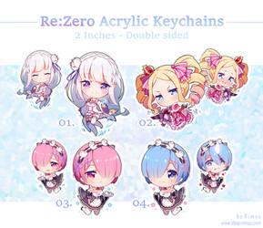 PRE-ORDER: Re:Zero Acrylic Keychains