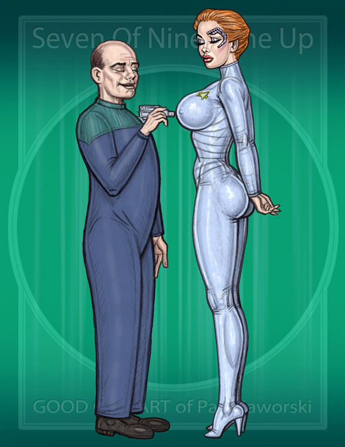 Seven Of Nine Tune Up  by GOODGIRLART