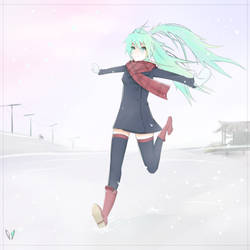 Snow Day - Miku by Miso-Mai