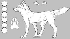 -FREE- Wolf Lineart Ref Sheet by RainbowBOXORZZ