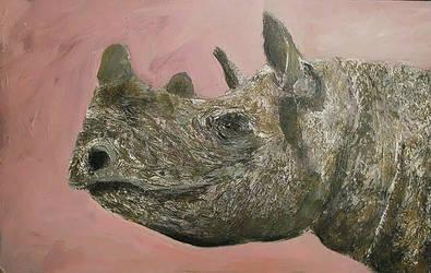Acrylic 33 rhino by Duttch
