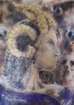 Pyro and Acrylic on A4 birchwood (4) by Duttch