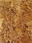 Scorched and Dremel pine close ups  (15) by Duttch