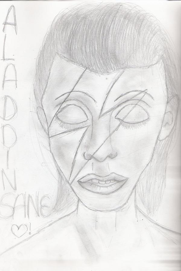 David Bowie - Aladdin Sane by Kattykitkat