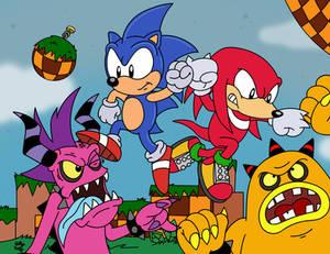 Sonic and Knuckles: Zeti Beatdown!