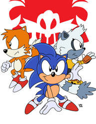 AoStH IDW Sonic Squad by SlySonic