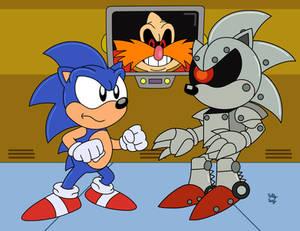 Sonic vs Mecha Sonic