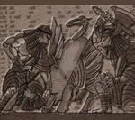 Gilgamesh and Enkidu VS Gugalanna