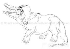 Egyptian Monster: Ammut by Freha