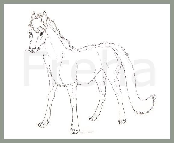 Contest: Equicat Lineart by Freha