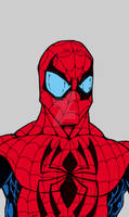 Spiderman Bust with flat colors June 2012