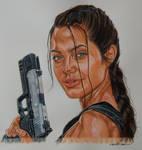 Lara Croft - Angelina Jolie - Tomb Raider by didierplouviez