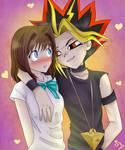 Yami Yugi and Anzu