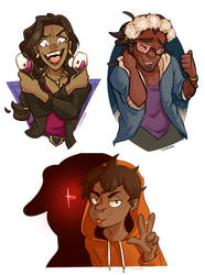 DDADDS doodle requests by Chiki-nan