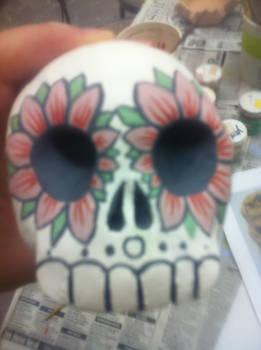 Front of Dia de los Muertos Skull